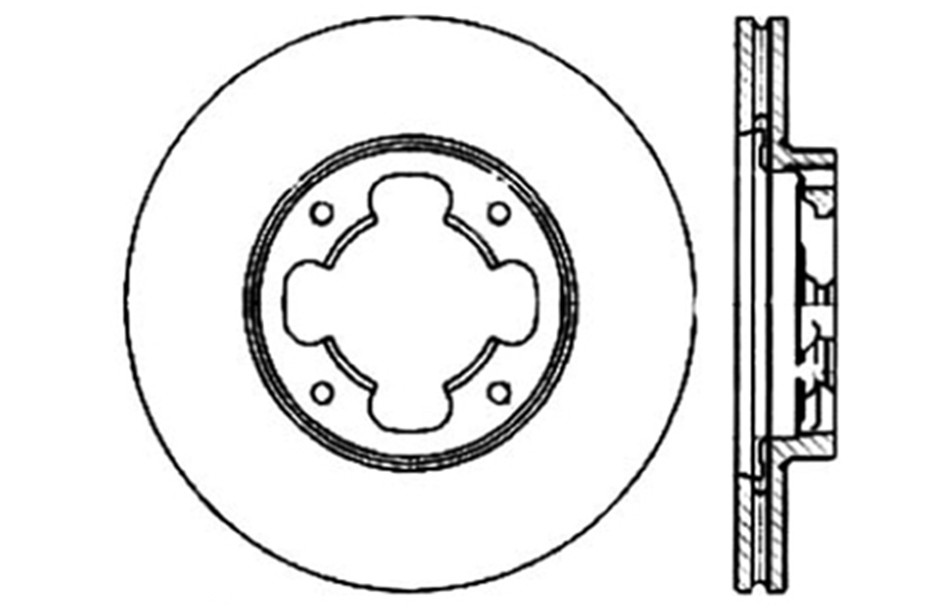 CENTRIC PARTS - Disc Brake Rotor - CEC 121.47005