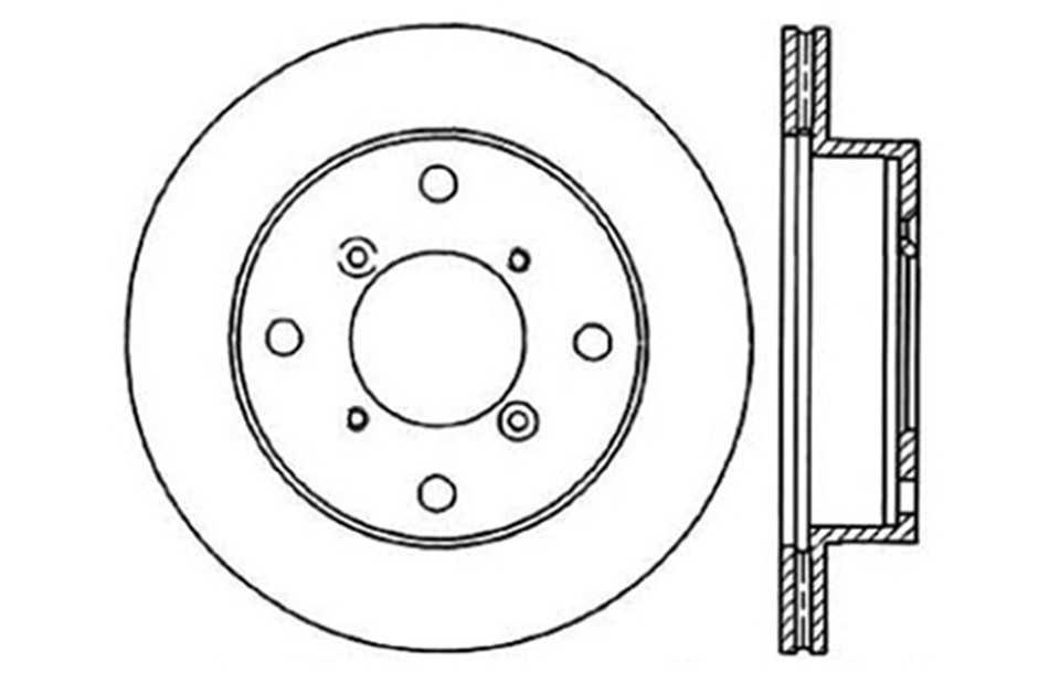 CENTRIC PARTS - Disc Brake Rotor - CEC 121.48001