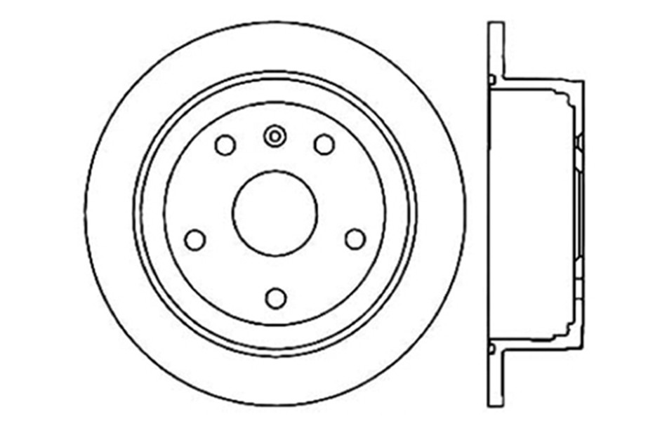 CENTRIC PARTS - Disc Brake Rotor (Rear) - CEC 121.49002