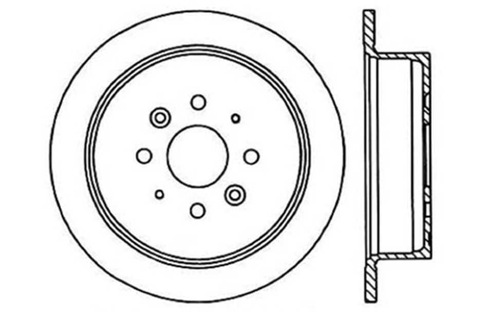 CENTRIC PARTS - Disc Brake Rotor (Rear) - CEC 121.50003