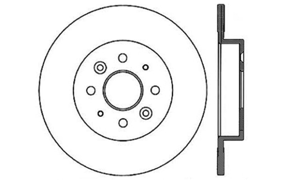 CENTRIC PARTS - Disc Brake Rotor (Rear) - CEC 121.50004