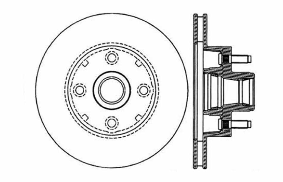 CENTRIC PARTS - Disc Brake Rotor (Front) - CEC 121.61011