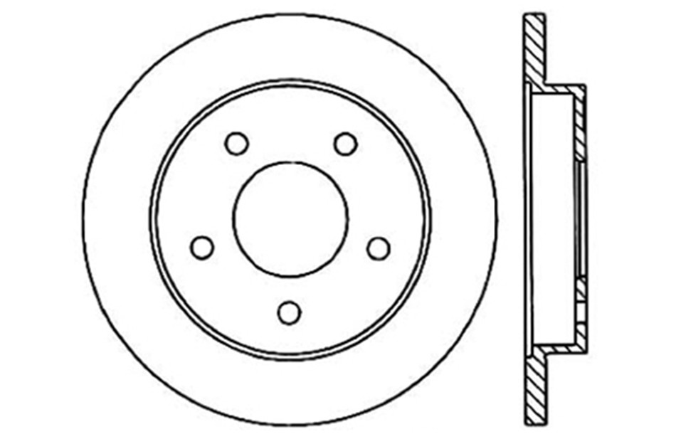 CENTRIC PARTS - Disc Brake Rotor (Rear) - CEC 121.62024
