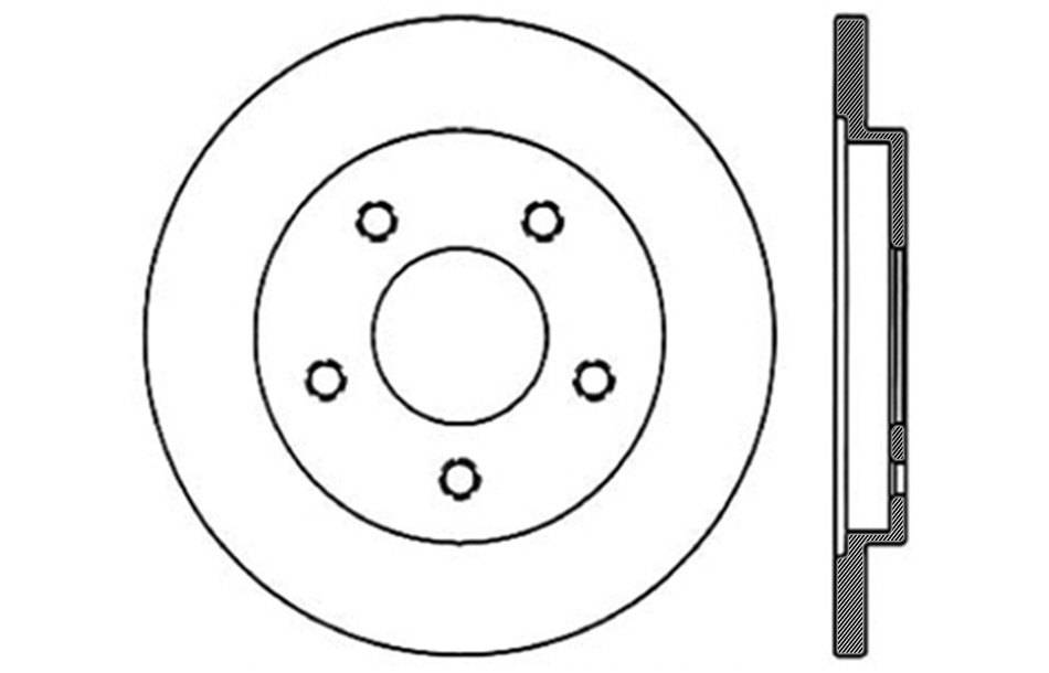 CENTRIC PARTS - Disc Brake Rotor - CEC 121.62029