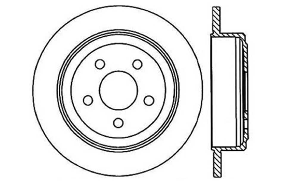 CENTRIC PARTS - Disc Brake Rotor (Rear) - CEC 121.65047