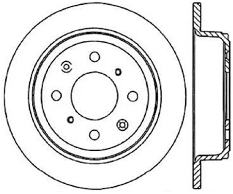 CENTRIC PARTS - High Carbon Alloy Brake Disc (Rear) - CEC 125.40017