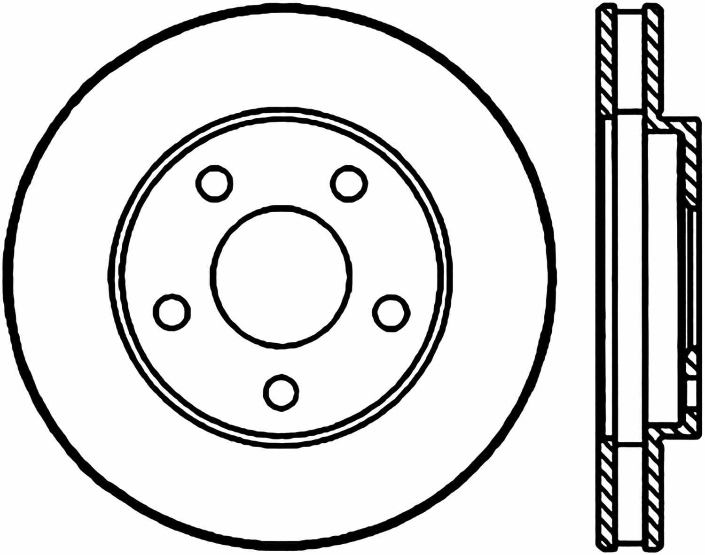 CENTRIC PARTS - High Carbon Alloy Brake Disc (Front) - CEC 125.62050
