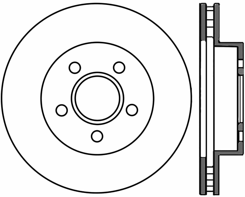 Centric Parts High Carbon Alloy Brake Disc Front: 2002 Jeep Liberty Caliper Parts Diagram At Chusao.net