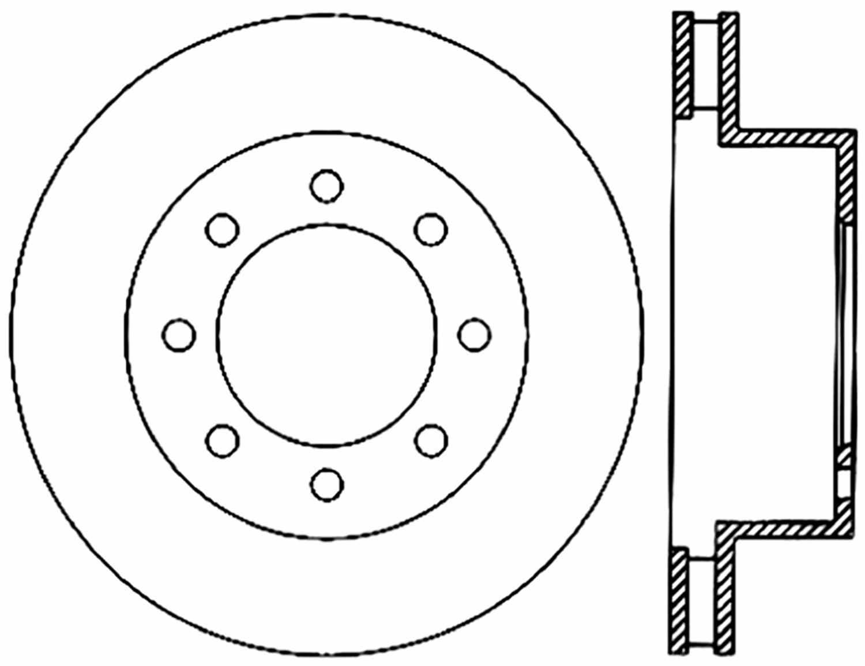 CENTRIC PARTS - High Carbon Alloy Brake Disc (Front) - CEC 125.67061