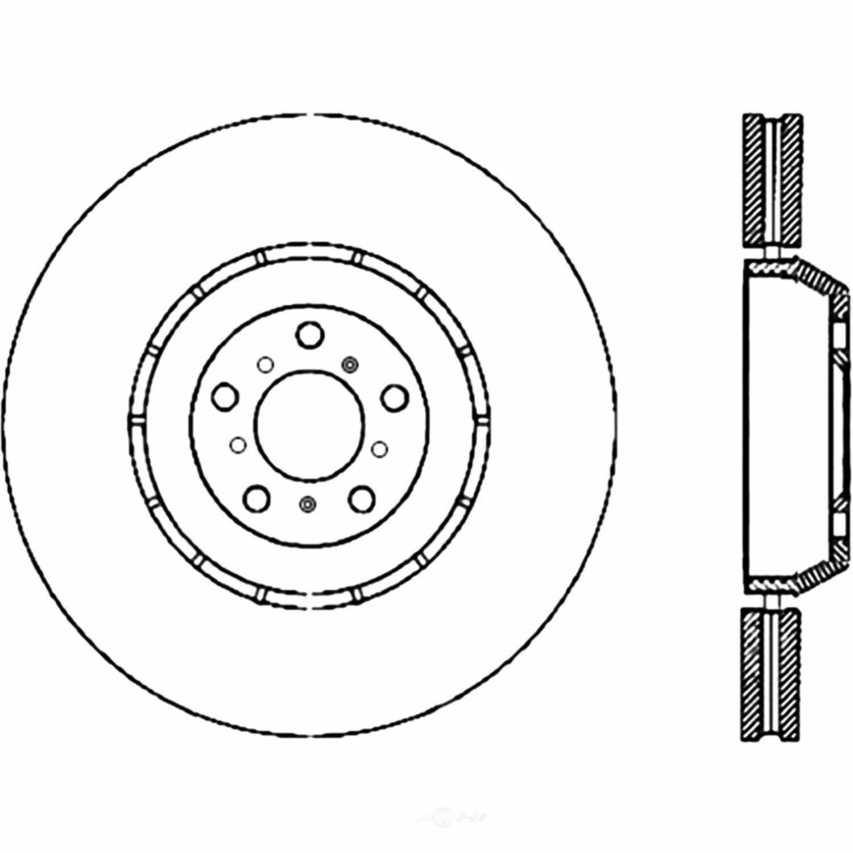 CENTRIC PARTS - Centric Premium OE Style Cross-Drilled Disc Brake Rotors - CEC 128.34090