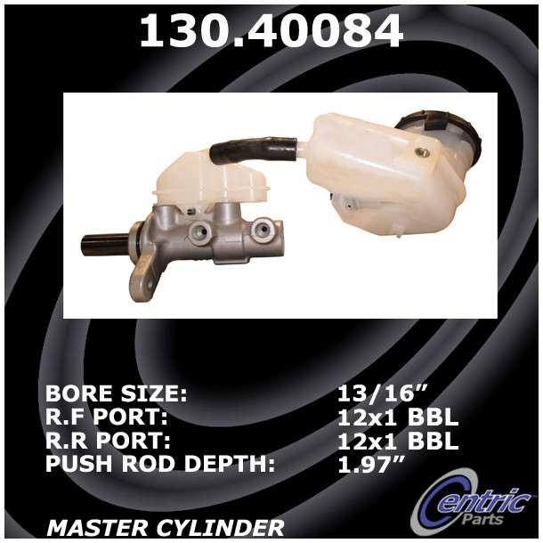 CENTRIC PARTS - Premium Master Cylinder - Preferred - CEC 130.40084