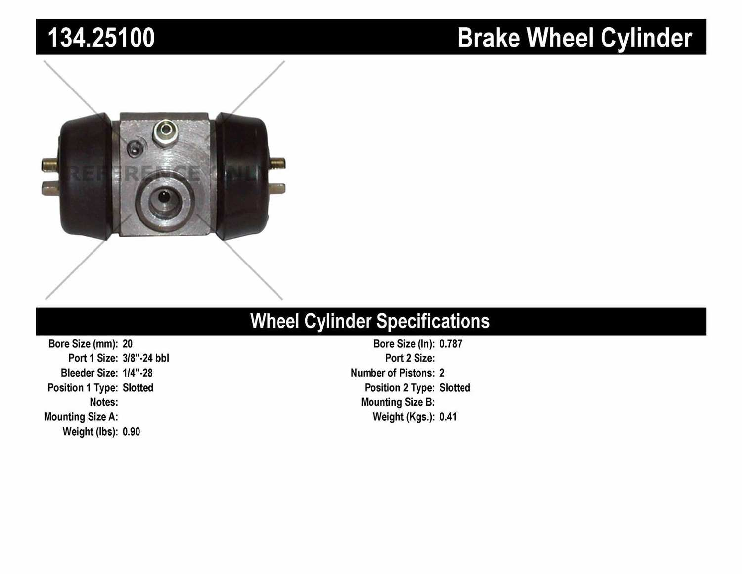 CENTRIC PARTS - Premium Wheel Cylinder-Preferred - CEC 134.25100