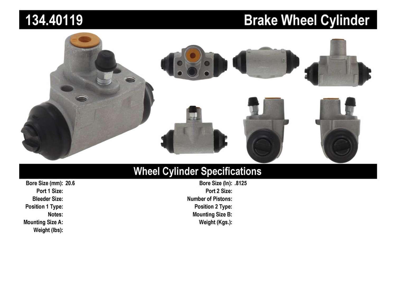 CENTRIC PARTS - Premium Wheel Cylinder-Preferred (Rear) - CEC 134.40119