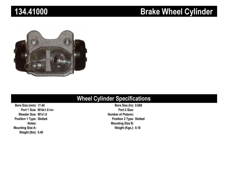 CENTRIC PARTS - Premium Wheel Cylinder-Preferred (Rear Left) - CEC 134.41000