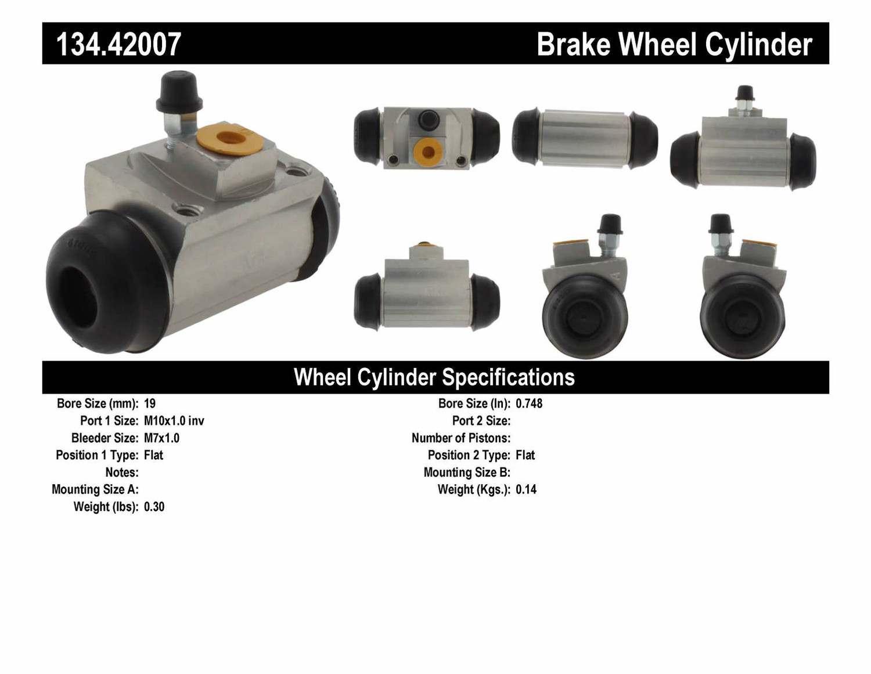 CENTRIC PARTS - Premium Wheel Cylinder-Preferred (Rear) - CEC 134.42007