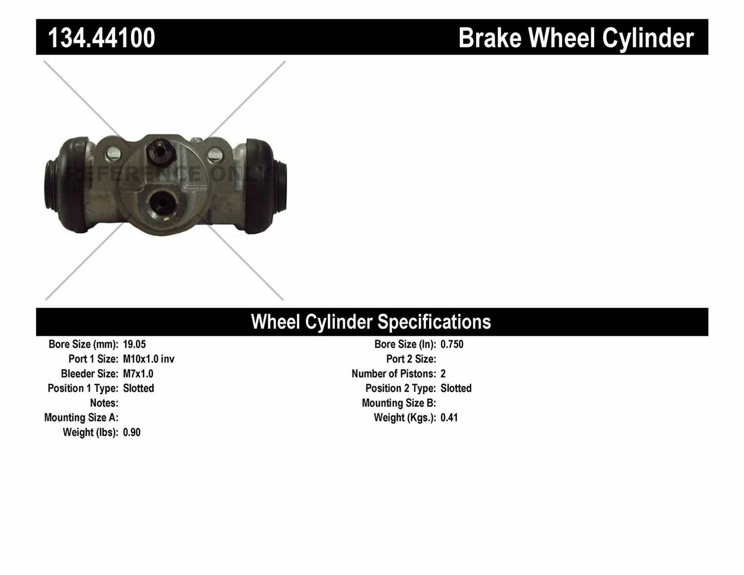 CENTRIC PARTS - Premium Wheel Cylinder-Preferred (Rear) - CEC 134.44100