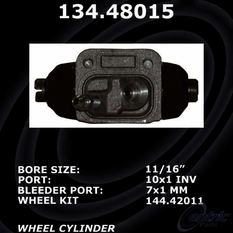 CENTRIC PARTS - Premium Wheel Cylinder-Preferred (Rear Left) - CEC 134.48015