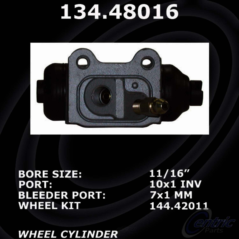 CENTRIC PARTS - Premium Wheel Cylinder-Preferred (Rear Right) - CEC 134.48016
