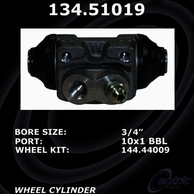 CENTRIC PARTS - Premium Wheel Cylinder-Preferred (Rear) - CEC 134.51019