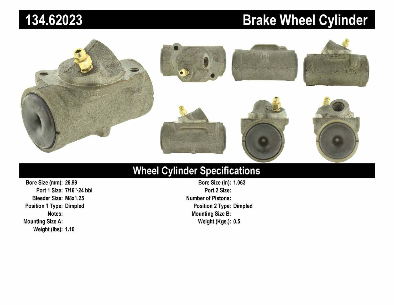 CENTRIC PARTS - Premium Wheel Cylinder-Preferred (Front Left) - CEC 134.62023