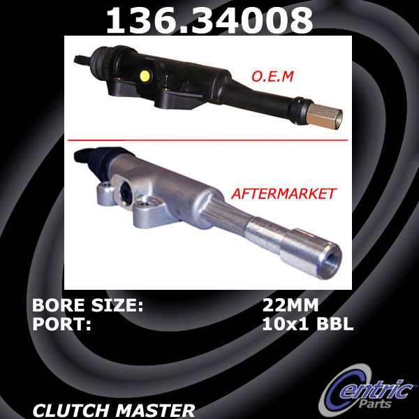 CENTRIC PARTS - Premium Clutch Master Cylinders - CEC 136.34008