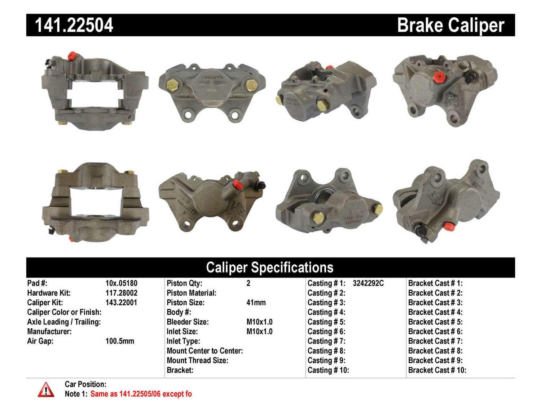 CENTRIC PARTS - Premium Semi-Loaded Caliper - CEC 141.22504