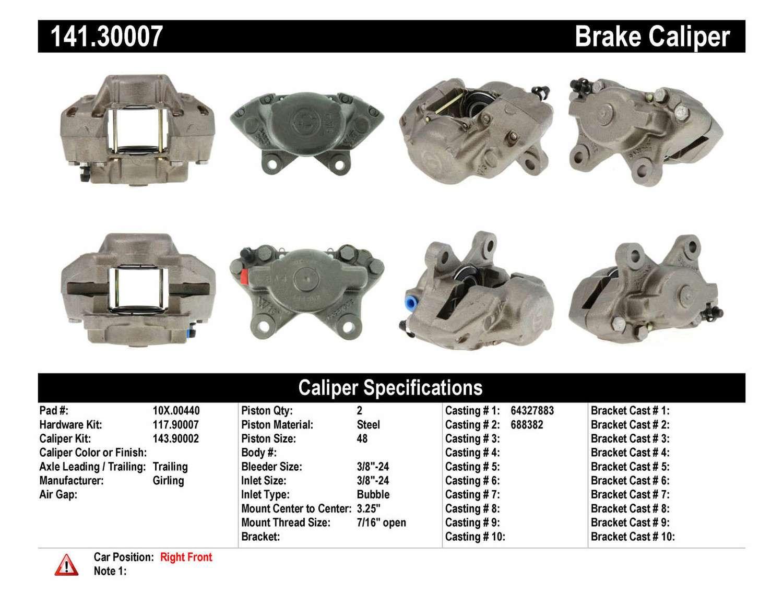 CENTRIC PARTS - Premium Semi-Loaded Caliper-Preferred - CEC 141.30007