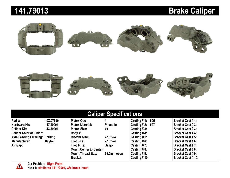 CENTRIC PARTS - Premium Semi-Loaded Caliper-Preferred - CEC 141.79013