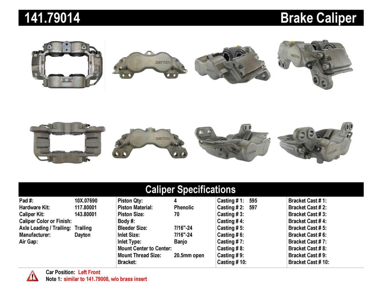 CENTRIC PARTS - Premium Semi-Loaded Caliper-Preferred - CEC 141.79014