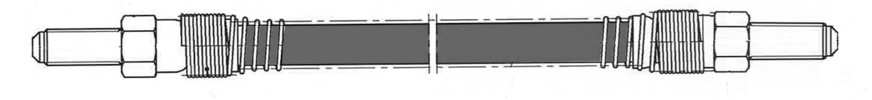 CENTRIC PARTS - Brake Hydraulic Hose (Rear) - CEC 150.25006