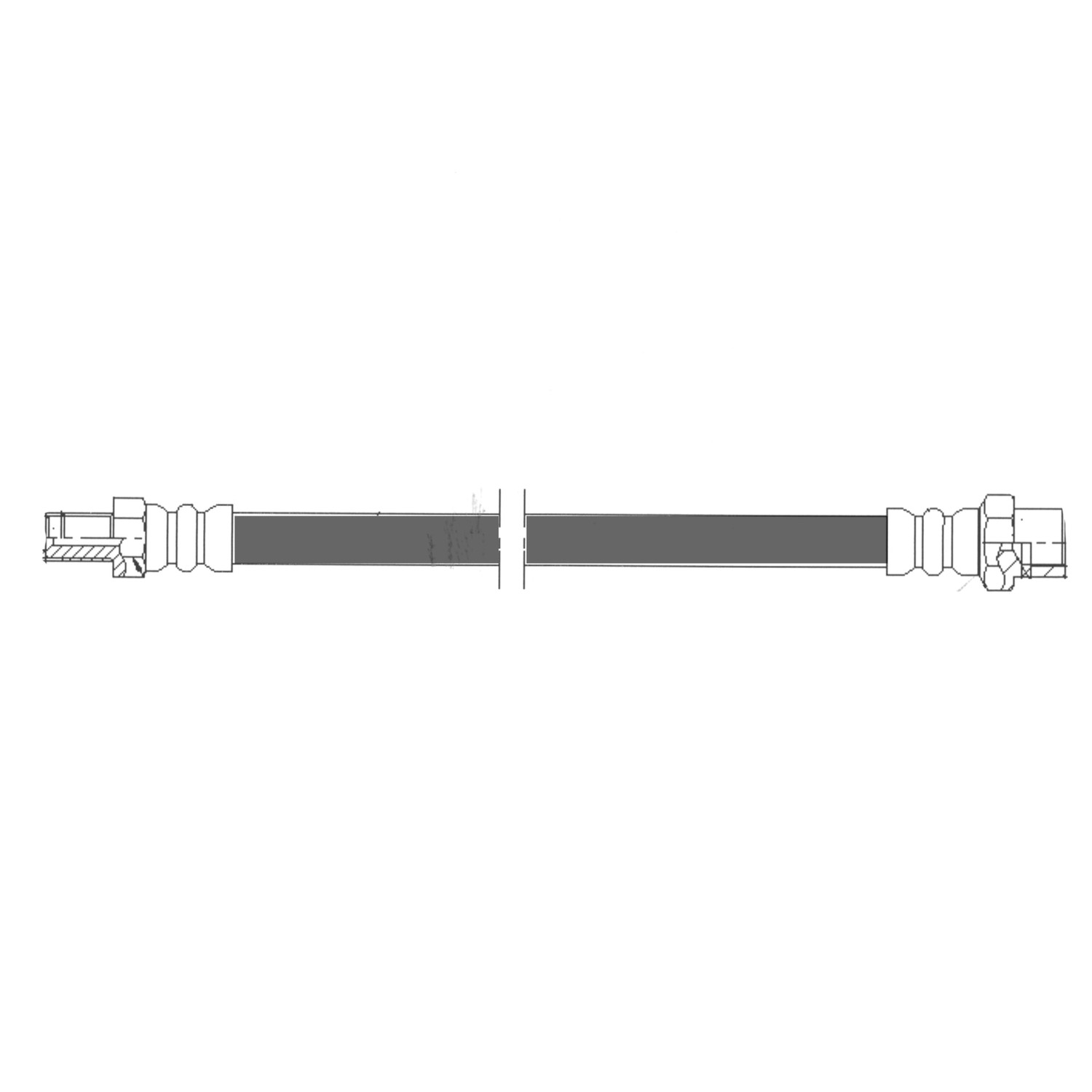 CENTRIC PARTS - Brake Hydraulic Hose (Front) - CEC 150.35002