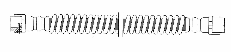 CENTRIC PARTS - Brake Hydraulic Hose (Rear) - CEC 150.37313