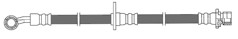 CENTRIC PARTS - Brake Hydraulic Hose (Front Left) - CEC 150.40130