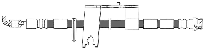 CENTRIC PARTS - Brake Hydraulic Hose (Rear Left) - CEC 150.61456
