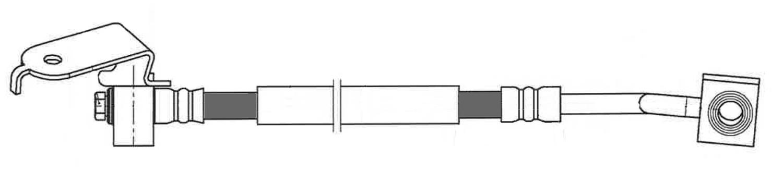CENTRIC PARTS - Brake Hydraulic Hose (Rear Left) - CEC 150.63398