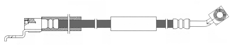 CENTRIC PARTS - Brake Hydraulic Hose (Front Left) - CEC 150.67045