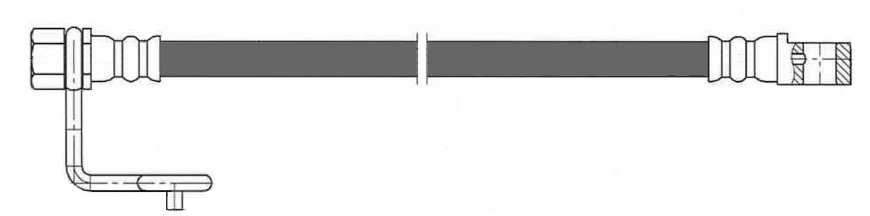 CENTRIC PARTS - Brake Hydraulic Hose (Rear Left Lower) - CEC 150.67414