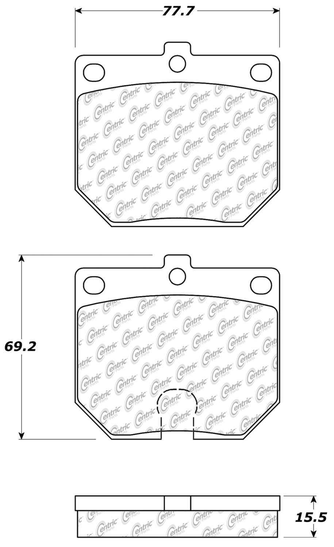 CENTRIC PARTS - Premium Semi-Met Pads w/Shims (Front) - CEC 300.01140