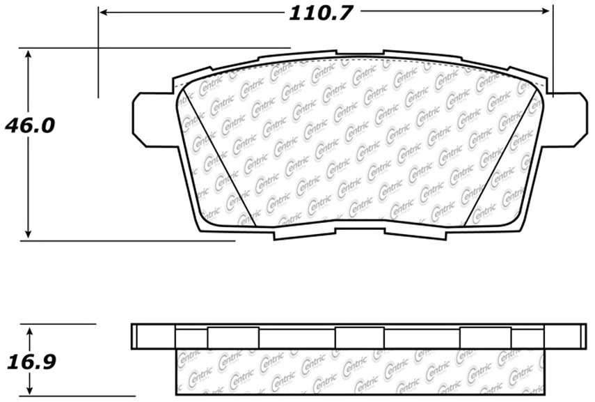 CENTRIC PARTS - Premium Semi-Met Pads w/Shims (Rear) - CEC 300.12590
