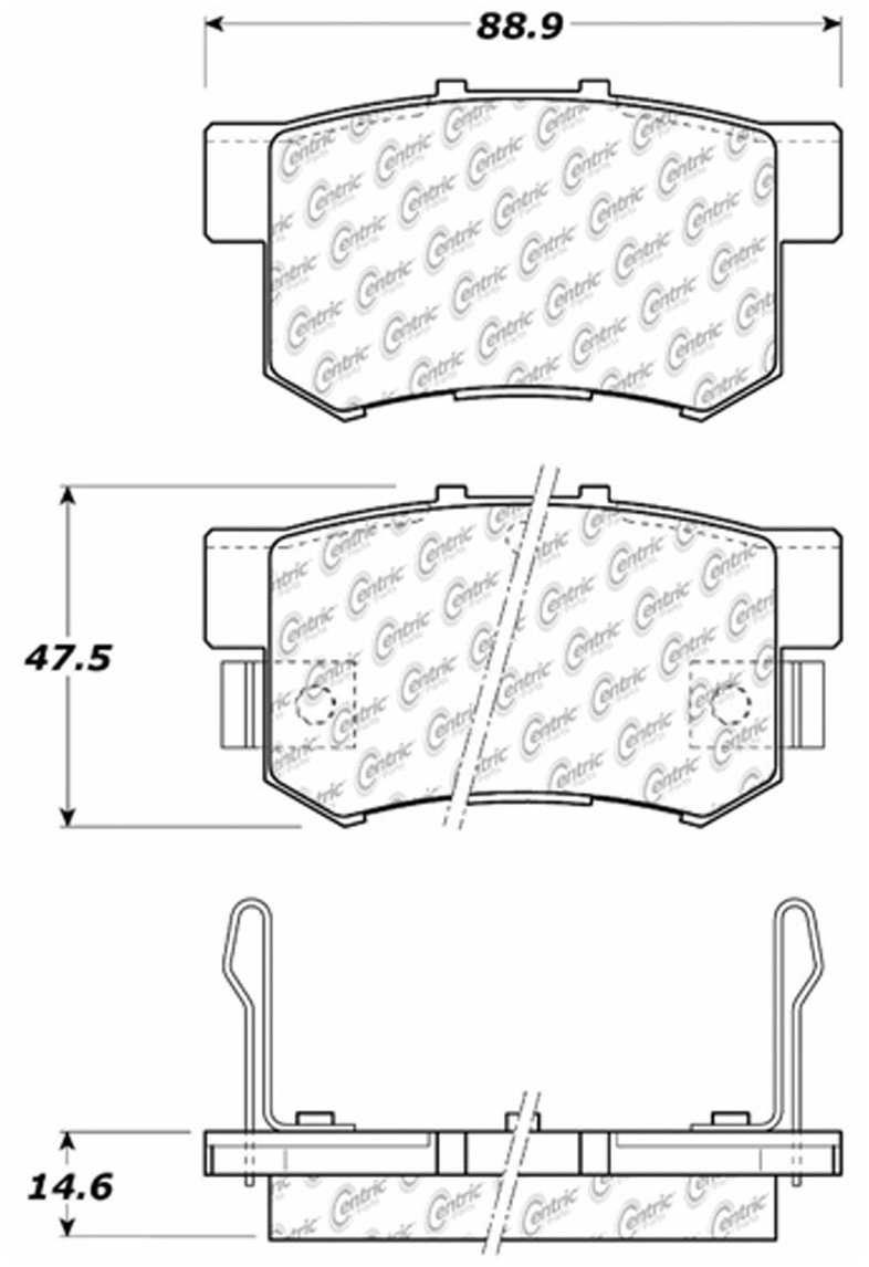 CENTRIC PARTS - Premium Ceramic Pads w/Shims & Hardware (Rear) - CEC 301.05370