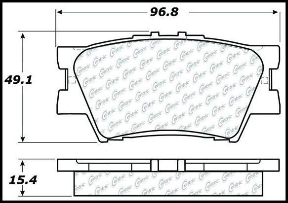 CENTRIC PARTS - Premium Ceramic Pads w/Shims & Hardware - CEC 301.12120