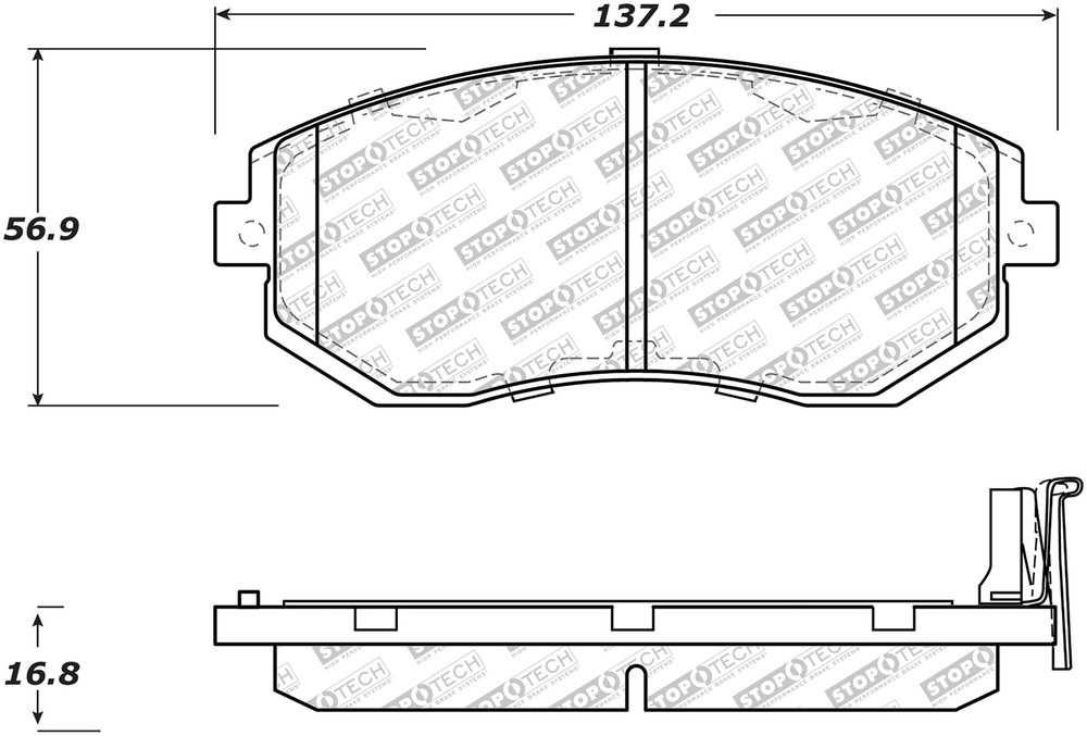 CENTRIC PARTS - Premium Ceramic Pads w/Shims (Front) - CEC 301.15390