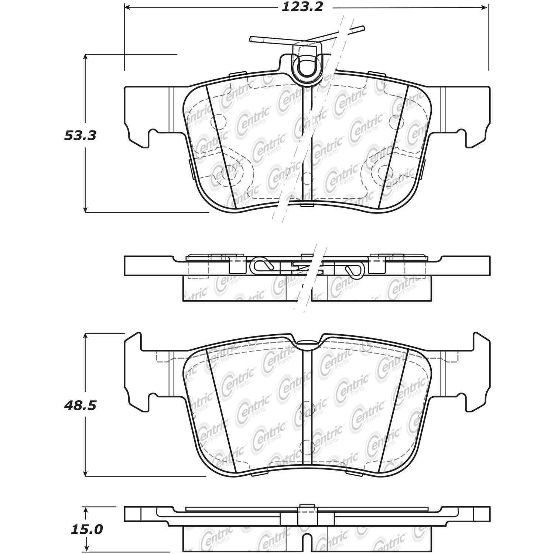 CENTRIC PARTS - Centric Premium Ceramic Disc Brake Pad Sets - CEC 301.16650