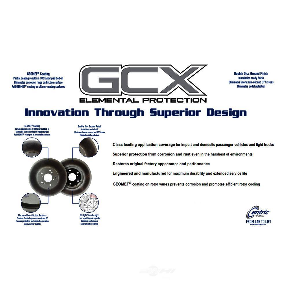CENTRIC PARTS - GCX Brake Rotors by StopTech (Rear) - CEC 320.33057