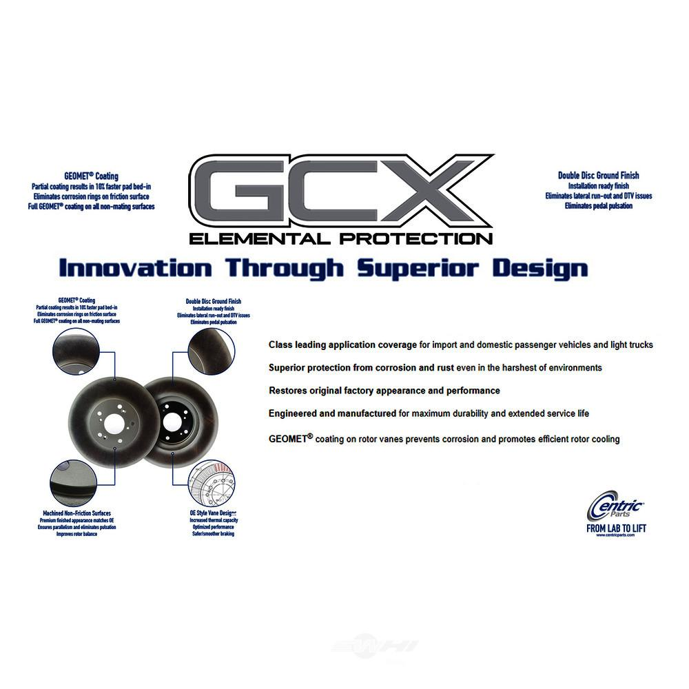 CENTRIC PARTS - GCX Application-Specific Brake Rotors - Partial Coating (Front) - CEC 320.44083