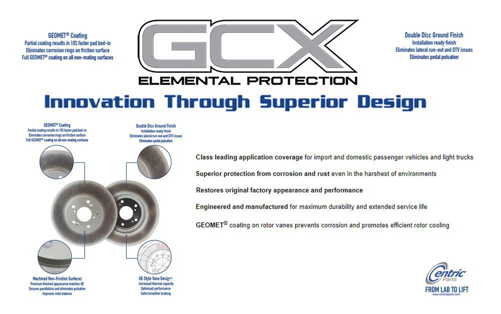 CENTRIC PARTS - GCX Brake Rotors by StopTech (Front) - CEC 320.62000