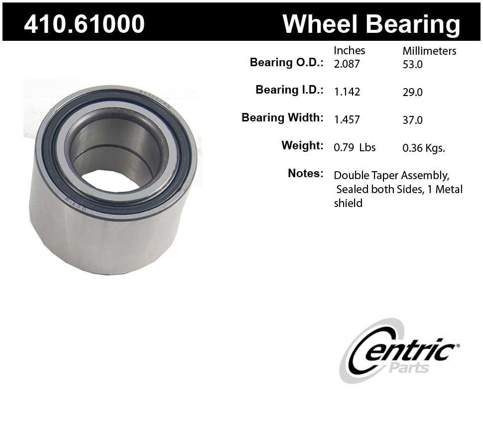 CENTRIC PARTS - Centric Premium Axle Shaft, Hub & Wheel Bearings - CEC 410.61000