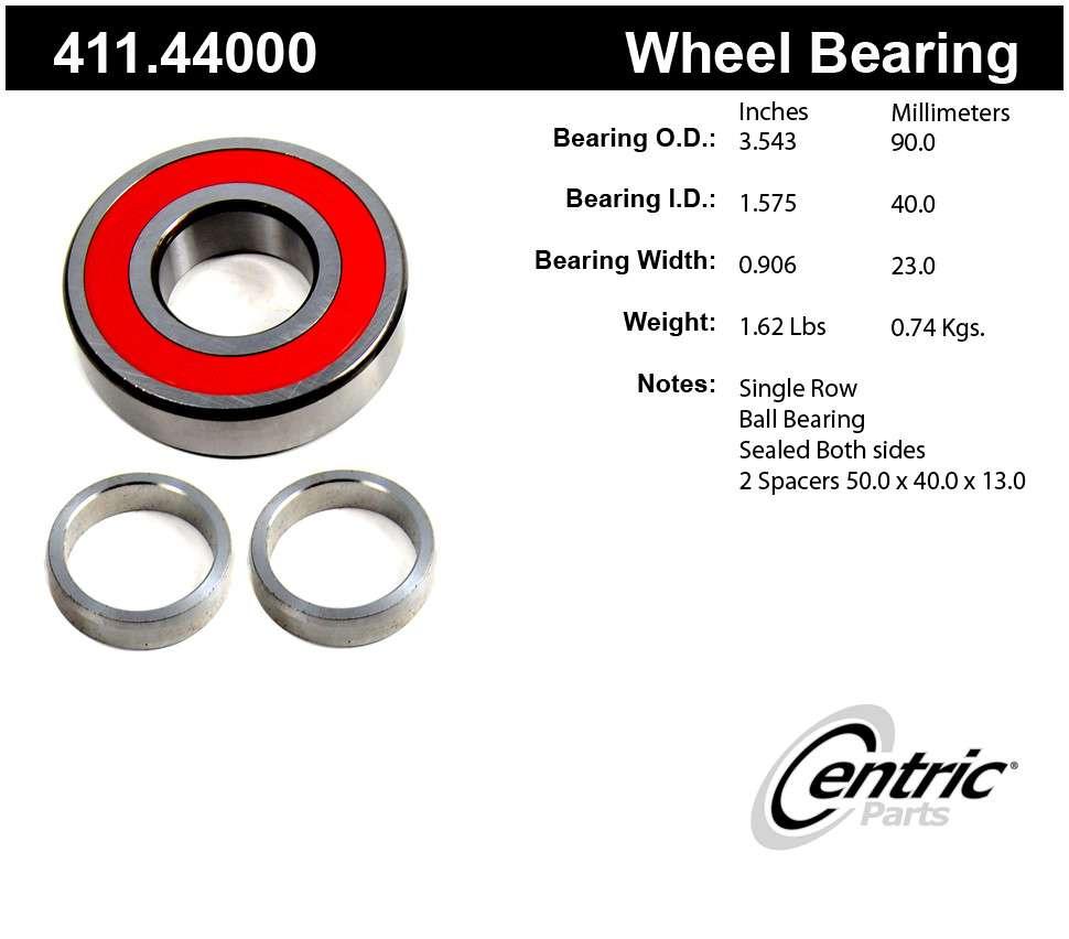 CENTRIC PARTS - Centric Premium Axle Shaft, Hub & Wheel Bearings - CEC 411.44000