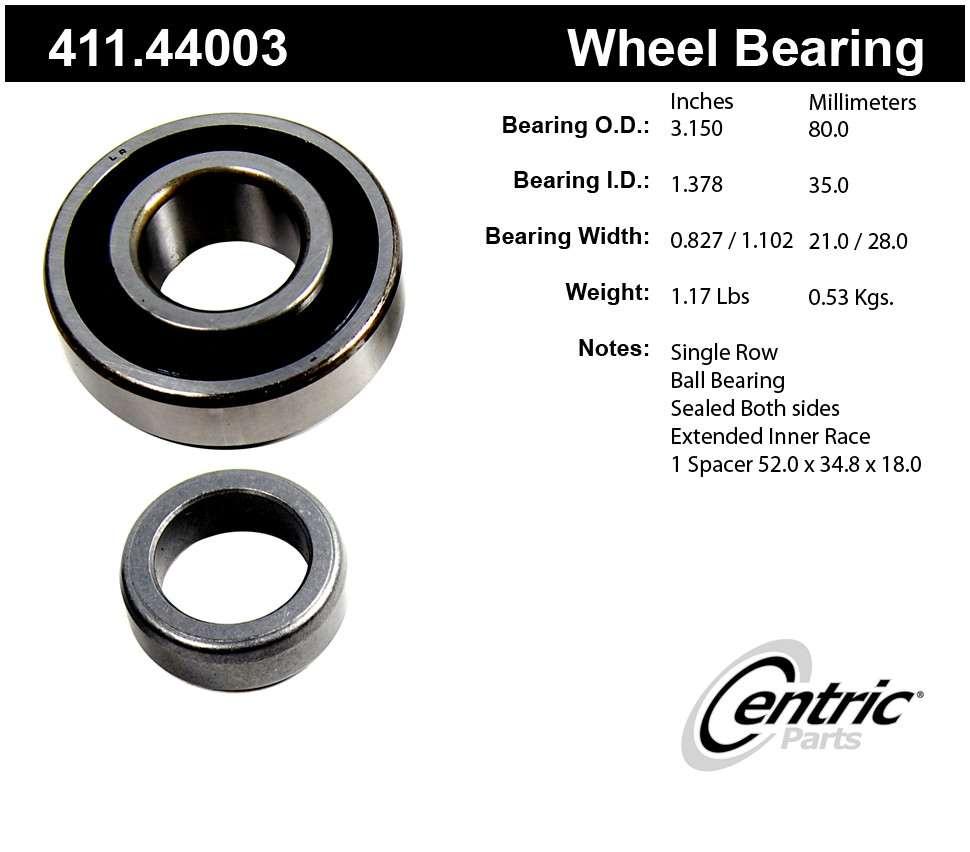 CENTRIC PARTS - Premium Axle Shaft Bearing Kit - CEC 411.44003