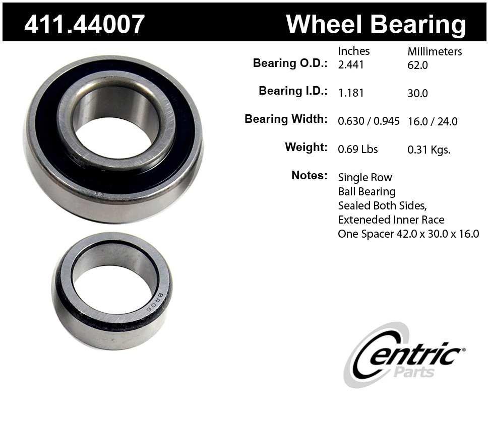 CENTRIC PARTS - Centric Premium Axle Shaft, Hub & Wheel Bearings - CEC 411.44007